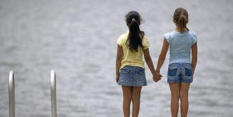 Best friends, holding hands