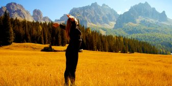 Woman grateful for nature