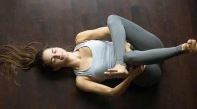 Highly sensitive woman in a yoga pose