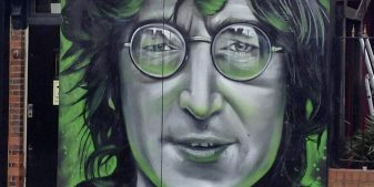 John Lennon - mural in London