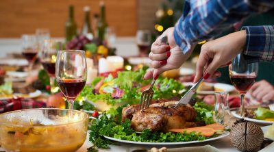 Eating mindfully at Christmas dinner