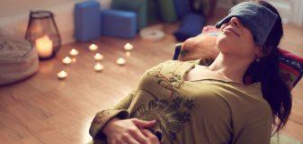Woman enjoying yoga nidra